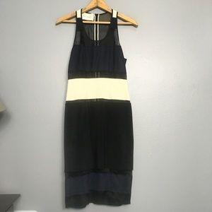 CEDRIC CHARLIER | sheer panel silk tank dress US 4
